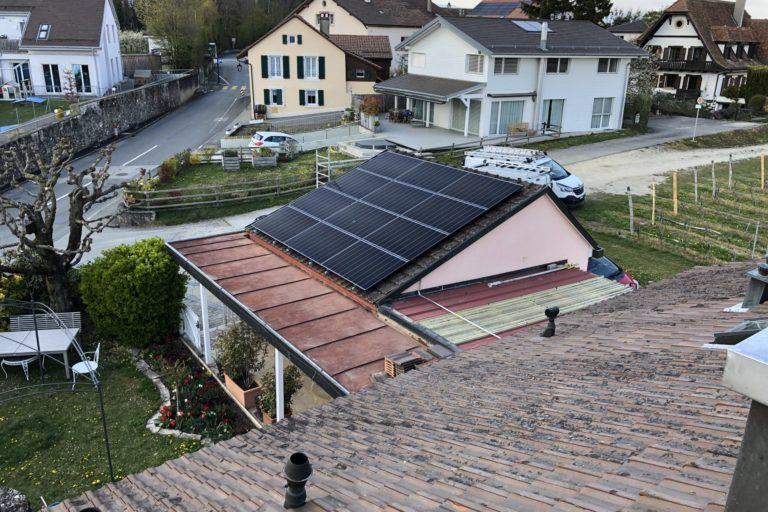 Echichens installation solaire